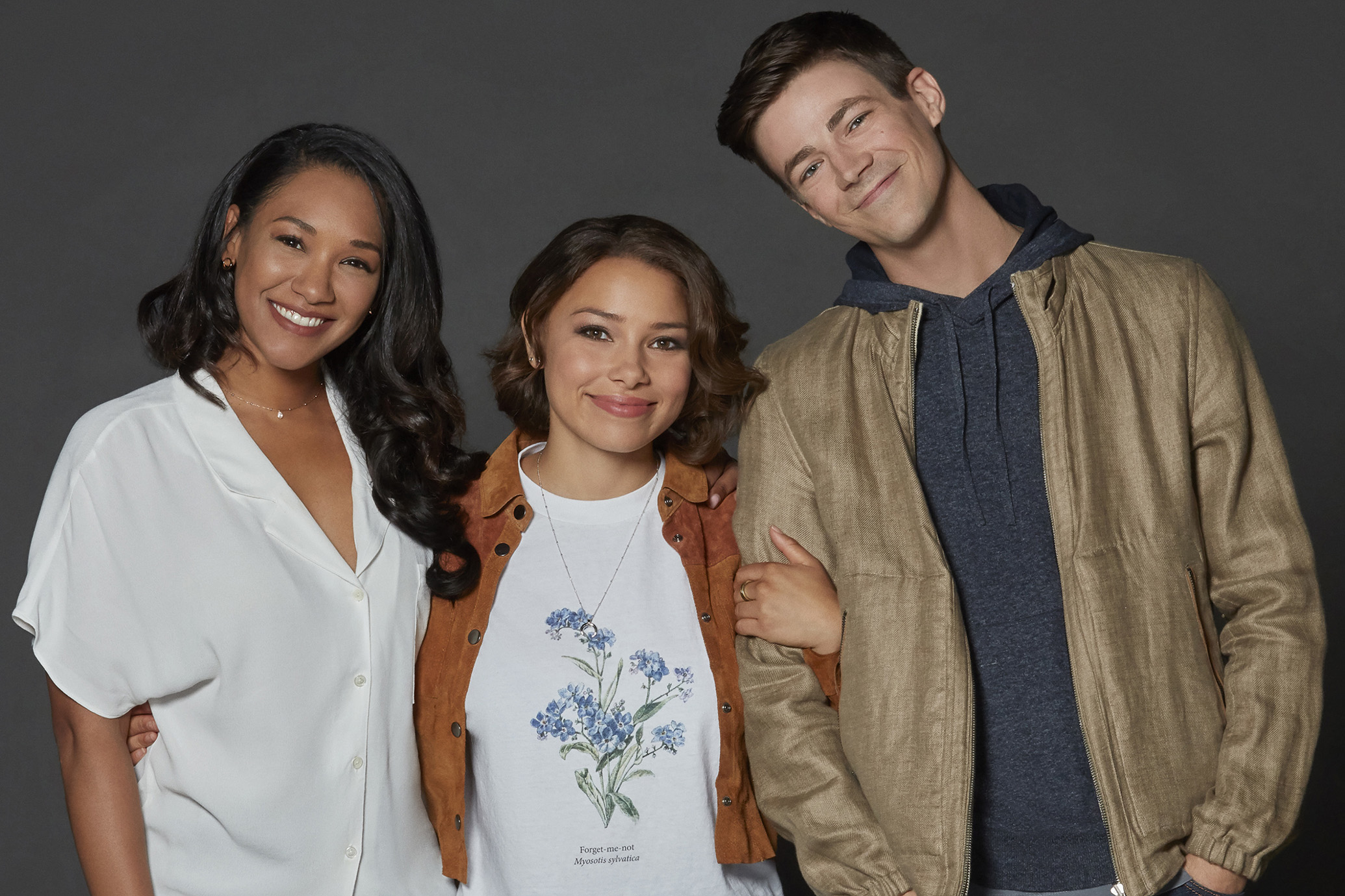 Candice Patton, Jessica Parker Kennedy and Grant Gustin, The Flash