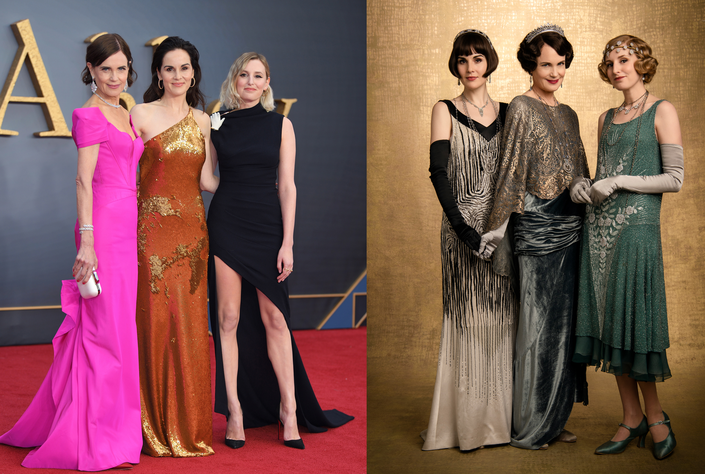 Elizabeth McGovern, Michelle Dockery, and Laura Carmichael as the Ladies of Downton
