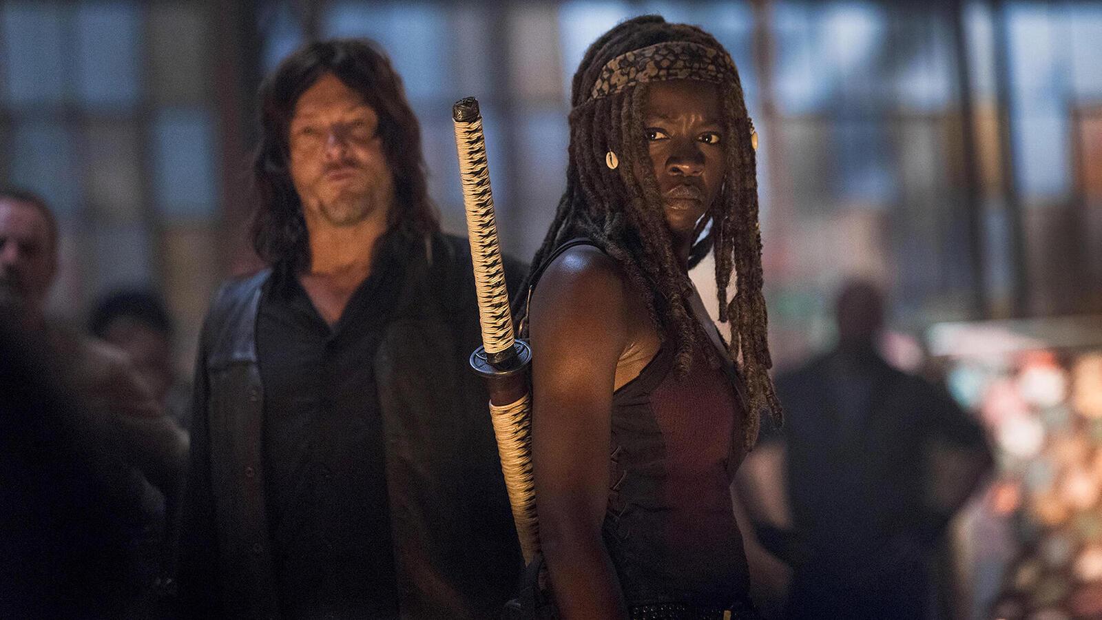 Norman Reedus and Danai Gurira, The Walking Dead