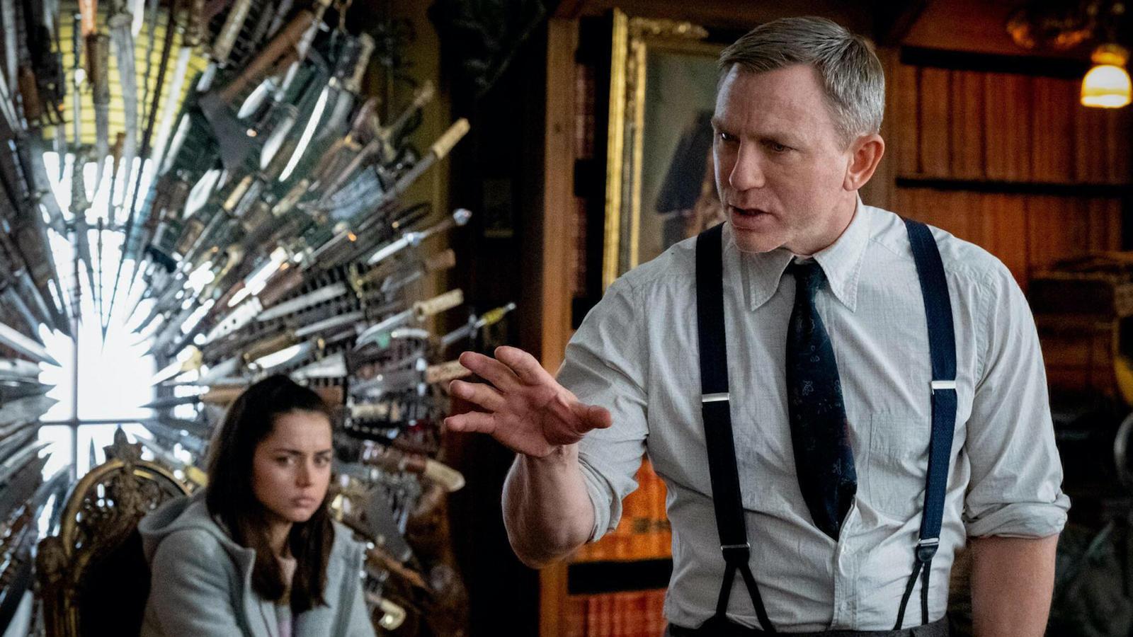 Ana de Armas and Daniel Craig, Knives Out