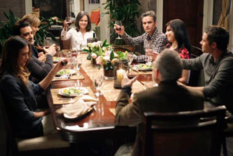 """Brothers & Sisters - Season 5 - """"Safe at Home"""" - Odette Yustman, Gilles Marini, Rachel Griffiths, Sally Field, Balthazar Getty, Ron Rifkin, Cara Buono, Dave Annable"""