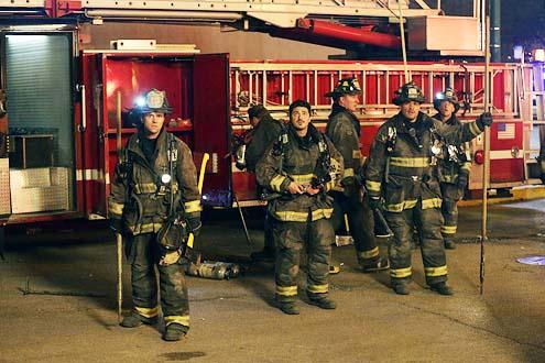 "Chicago Fire - Season 2 - ""Real Never Waits"" - Jesse Spencer, Yuri Sardarov, Joe Misoso and Daivd Eigenberg"