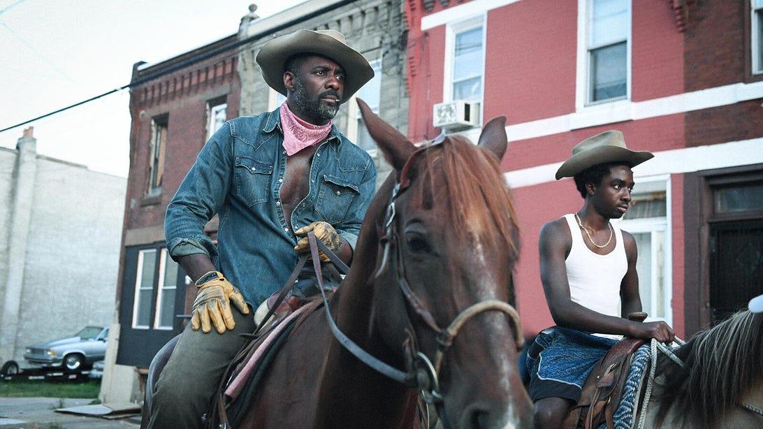 Idris Elba and Caleb McLaughlin, Concrete Cowboy