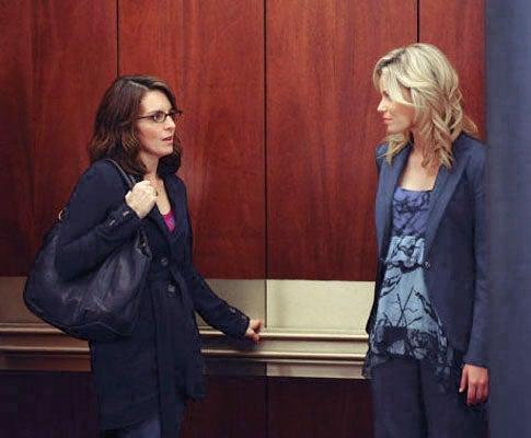 "30 Rock - Season 5 - ""Gentleman's Intermission"" - Tina Fey as Liz Lemon, Elizabeth Banks as Avery"