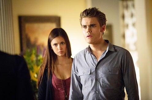 "The Vampire Diaries - Season 4 - ""The Killer"" - Nina Dobrev and Paul Wesley"