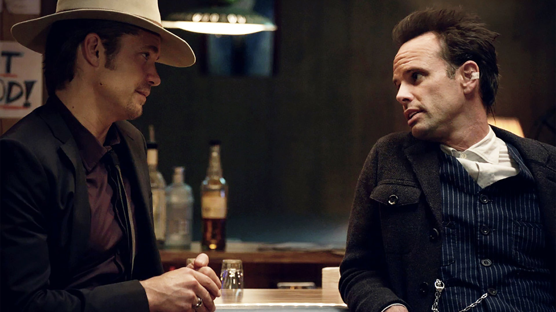 Timothy Olyphant and Walton Goggins, Justified