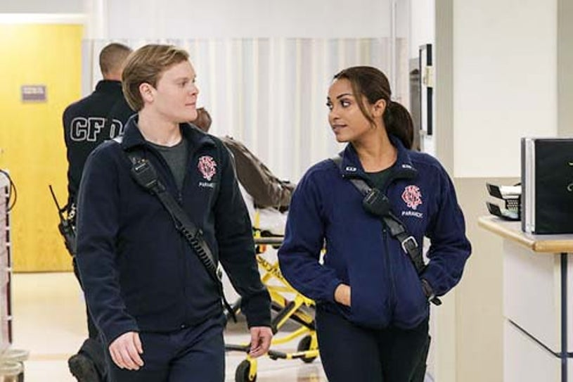 """Chicago Fire - Season 2 - """"Rhymes with Shout"""" - Alex Weisman and Monica Raymund"""