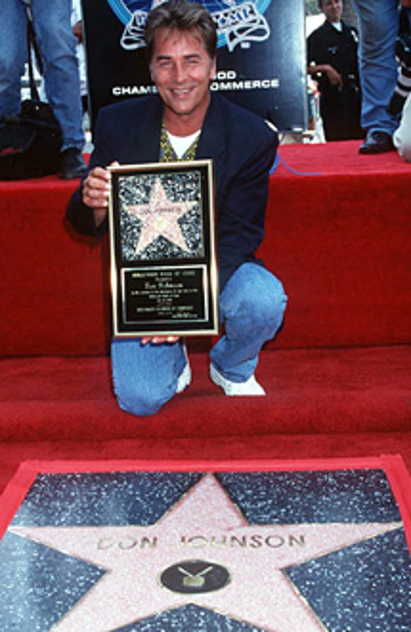 Don Johnson Honored with a Star on the Hollywood Walk of Fame - 1996