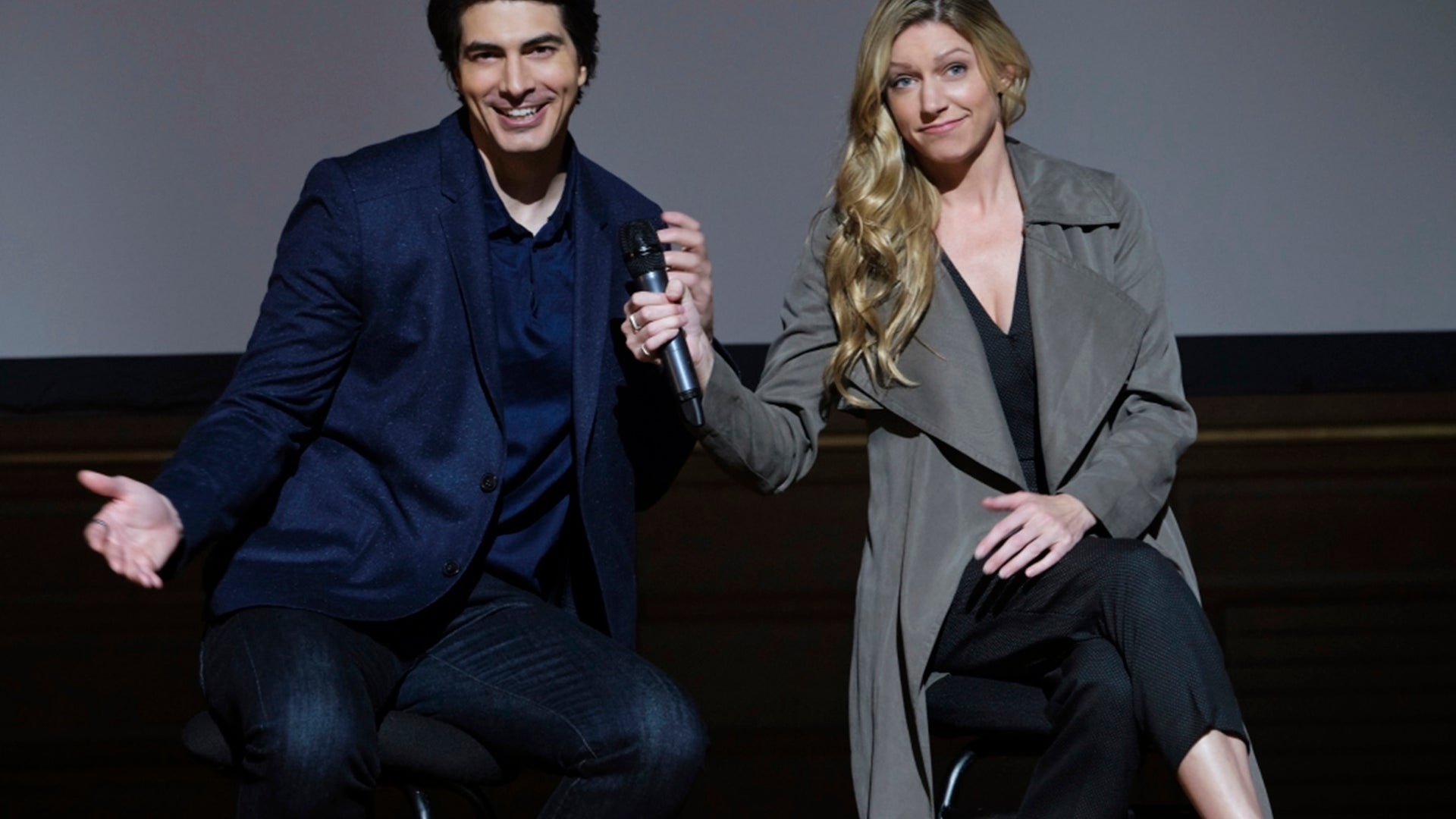 Brandon Routh and Jes Macallan, DC's Legends of Tomorrow