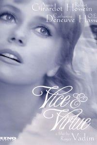 Vice and Virtue as Justine Morand, la vertu