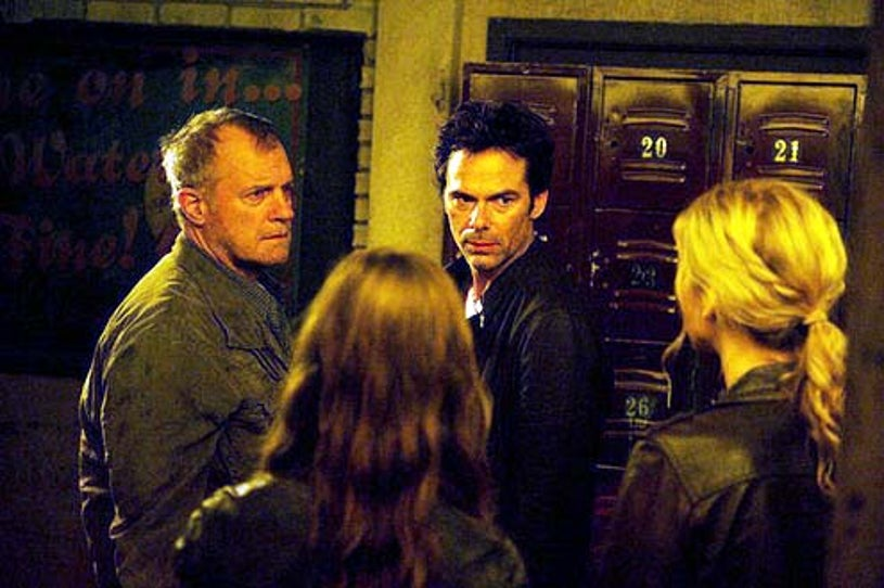 """Revolution - Season 2 - """"Come Blow Your Horn"""" - Stephen Collins and Billy Burke"""