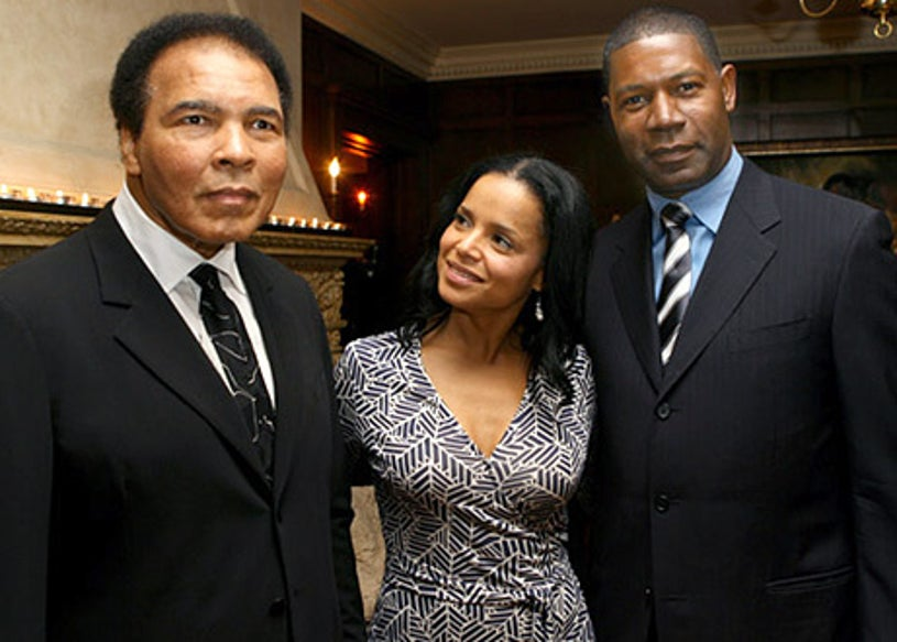 Muhammad Ali, Victoria Rowell and Dennis Haysbert - The Center Dance Association Welcomes The Alvin Ailey American Dance Theatre, February 3, 2006