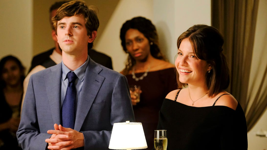 Freddie Highmore and Paige Spara, The Good Doctor