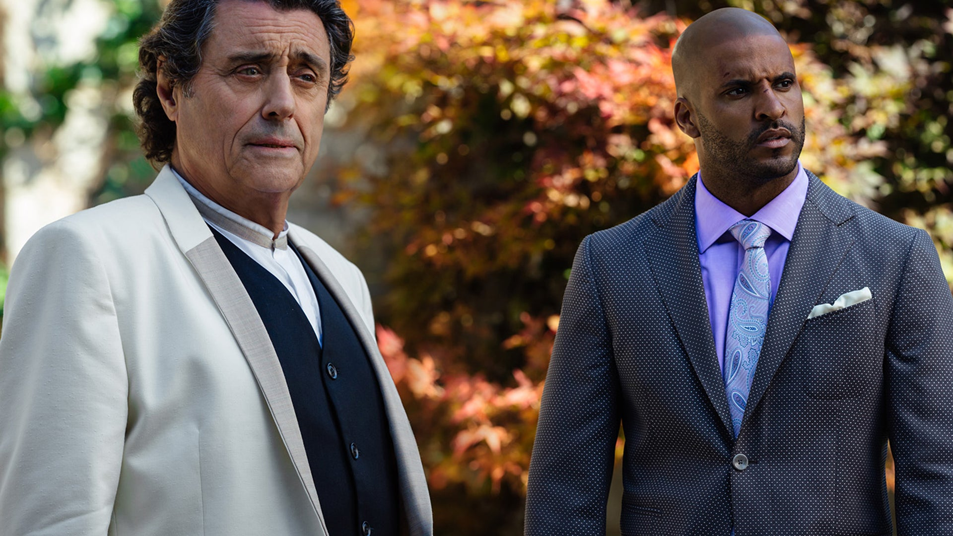 Ricky Whittle and Ian McShane, American Gods