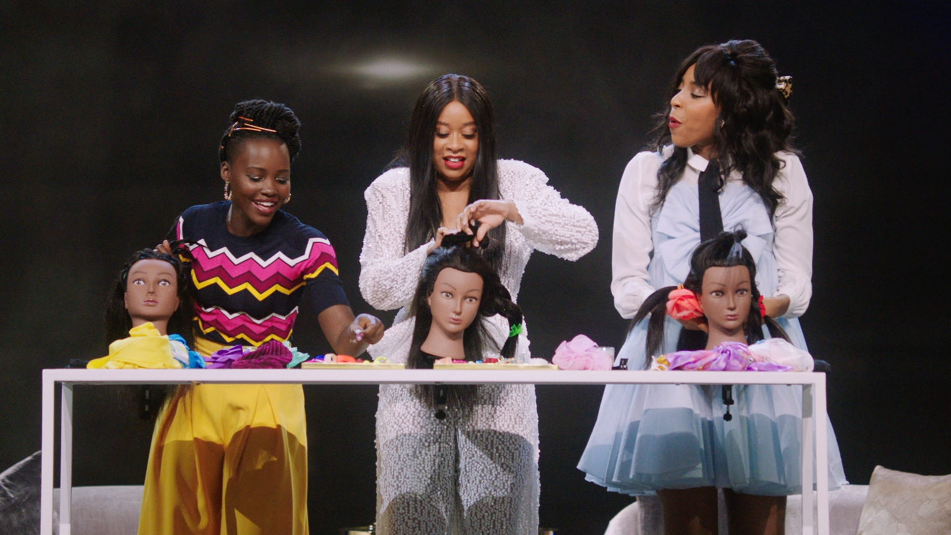 Lupita Nyong'o, Phoebe Robinson and Jessica Williams, 2 Dope Queens