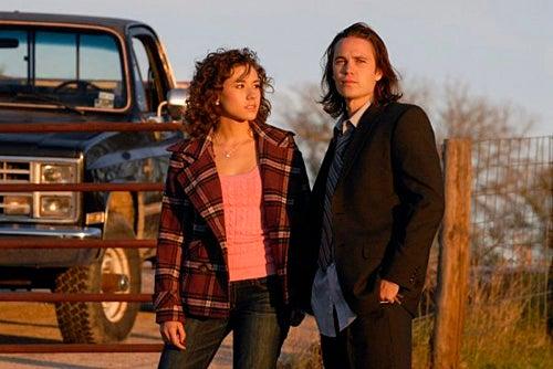 "Friday Night Lights - Season 4 - ""Toilet Bowl"" - Madison Burge as Becky Everheart, Taylor Kitsch as Tim Riggins"