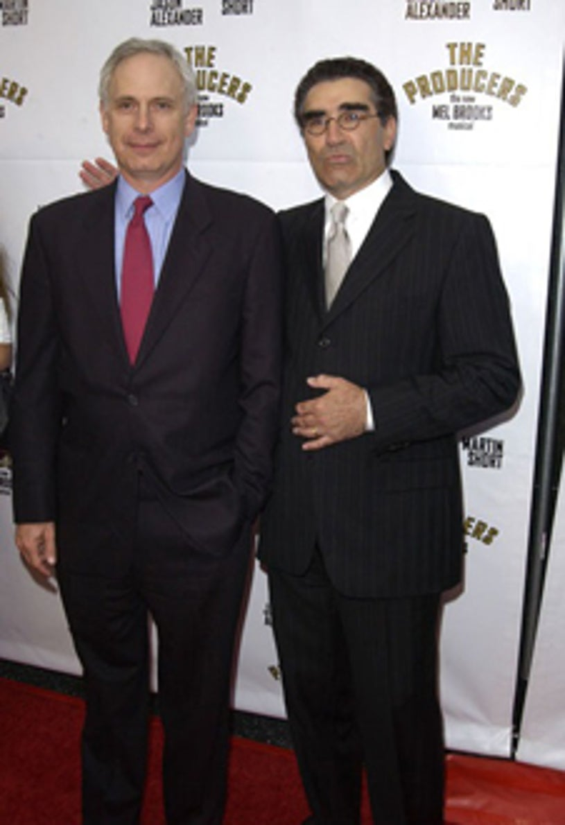 """Christopher Guest and  Eugene Levy - opening night of """"The Producers"""", May 2003"""