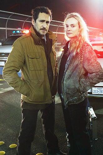 The Bridge - Season 1 - Demian Bichir and Diane Kruger