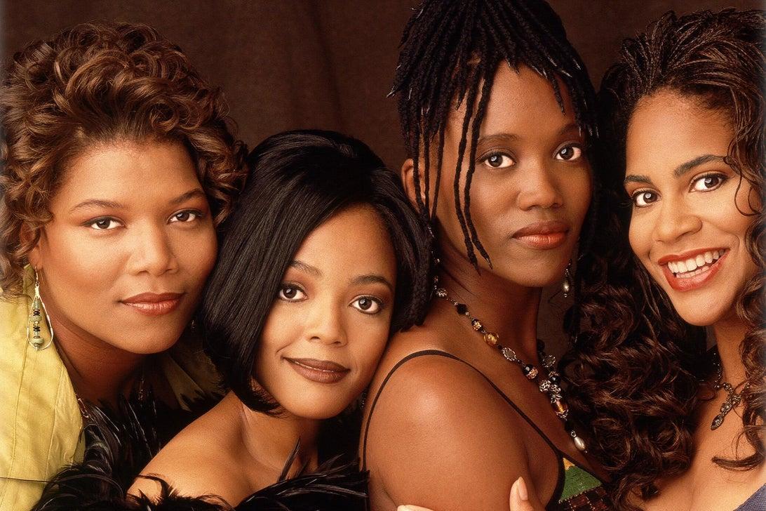 Queen Latifah, Kim Fields, Erika Alexander, and Kim Coles, Living Single