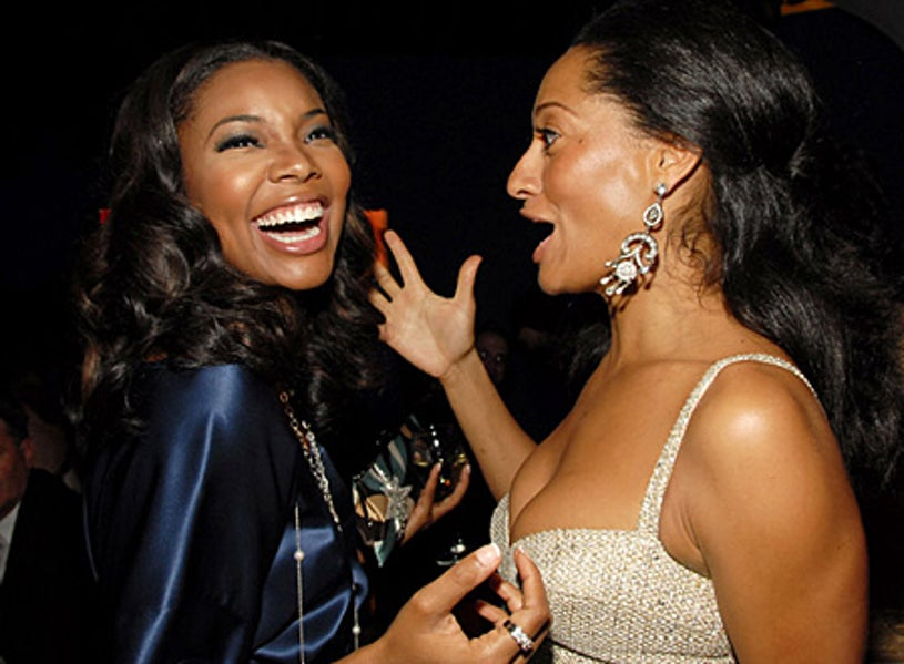 Gabrielle Union and Tracee Ellis Ross - InStyle & Warner Bros. 2006 Golden Globes after party, January 16, 2006