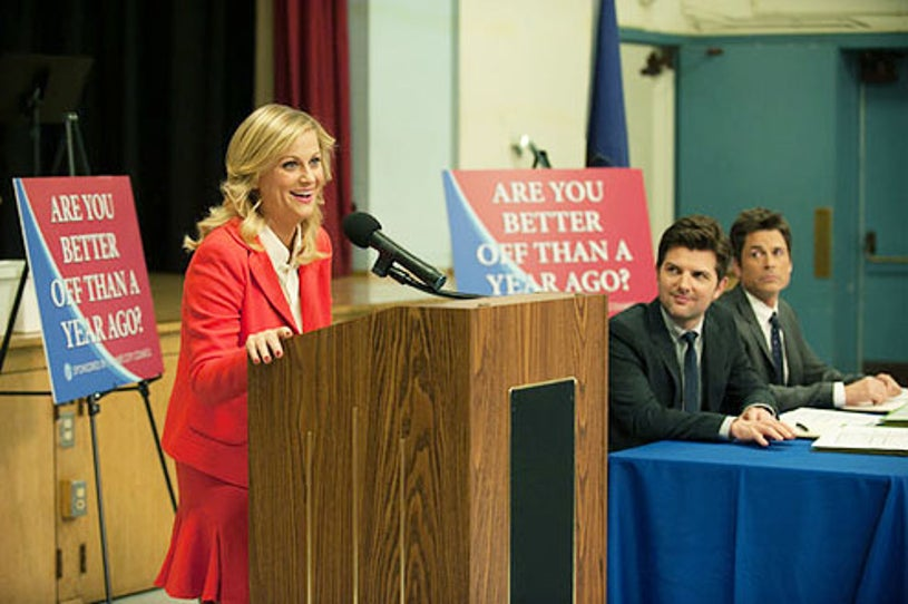 """Parks and Recreation - Seaon 5 - """"Are You Better Off?"""" - Amy Poehler, Adam Scott and Rob Lowe"""
