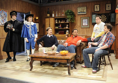 "Saturday Night Live - Season 37 - ""Charles Barkley"" - Bill Hader, Paul Brittain, Jason Sudeikis, Charles Barkley, Bobby Moynihan and Andy Samberg"