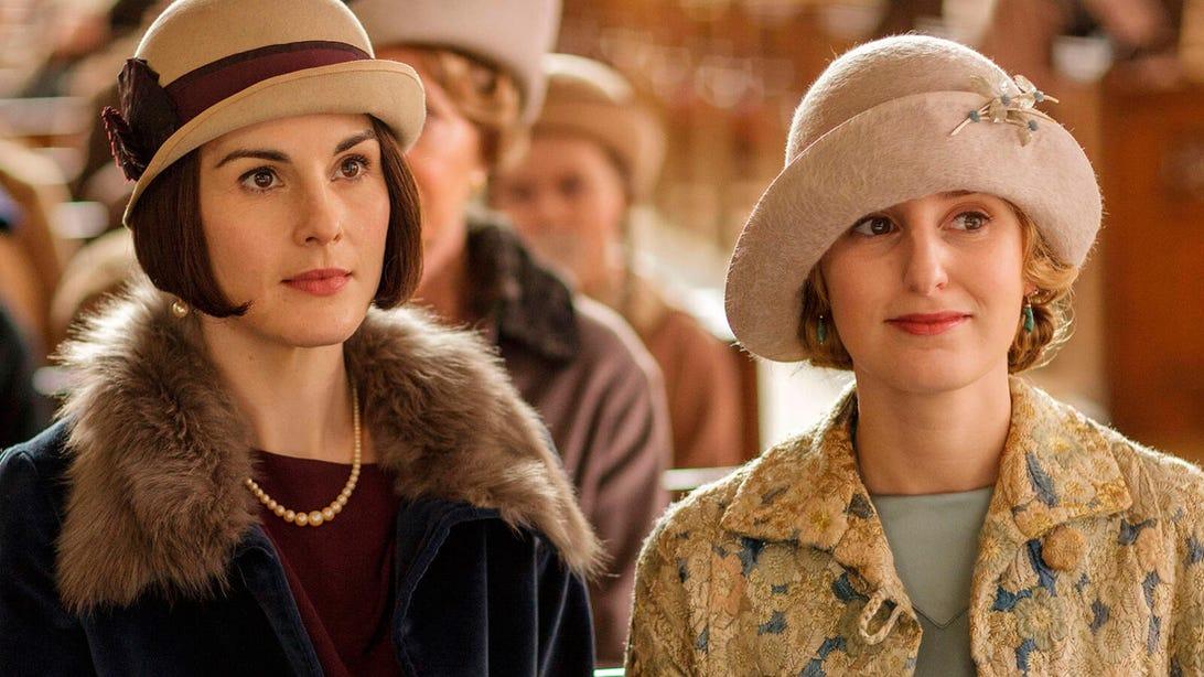 Michelle Dockery and Laura Carmichael, Downton Abbey