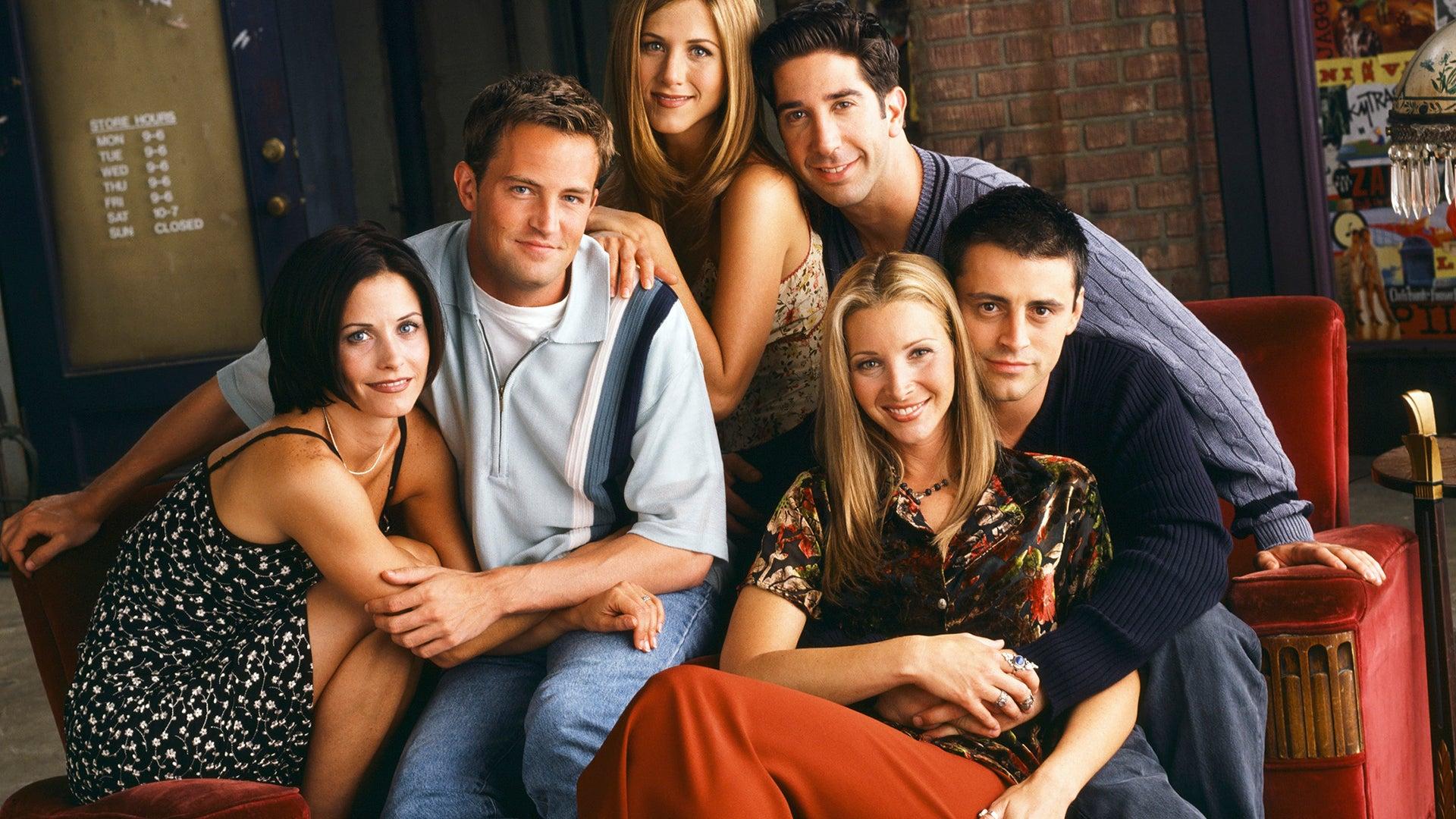 Courteney Cox, Matthew Perry, Jennifer Aniston, David Schwimmer, Matt LeBlanc, and Lisa Kudrow, Friends