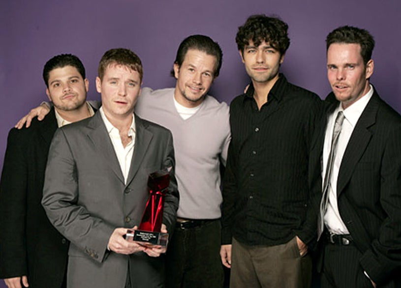 """Jerry Ferrara, Kevin Connelly, Mark Wahlberg, Adrian Grenier and Matt Dillon of """"Entourage"""" - Hollywood Life's 4th Annual Breakthrough of the Year Awards - Portraits - 2004"""