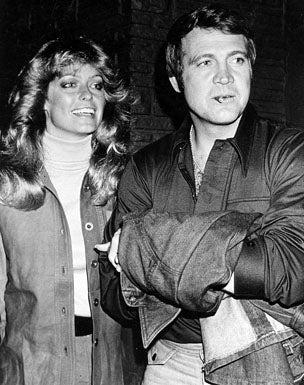 Farrah Fawcett-Majors and husband Lee Majors - Hollywood event, 1976