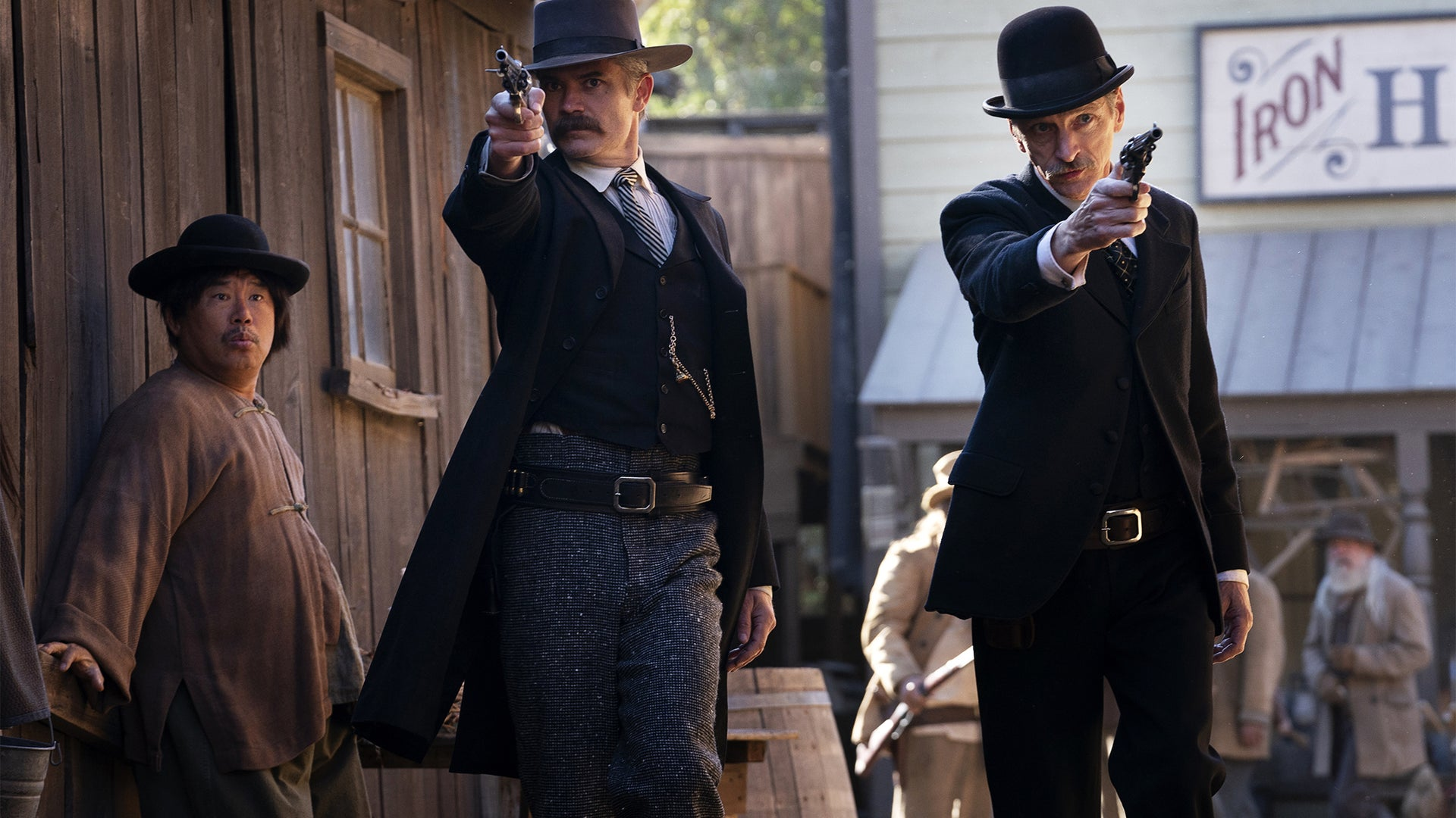 Timothy Olyphant and John Hawkes, Deadwood: The Movie