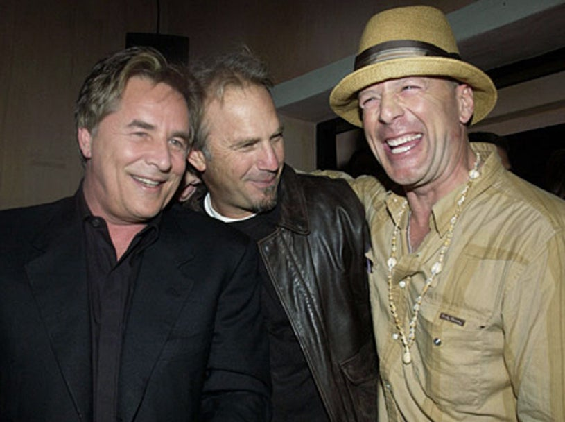 Don Johnson, Kevin Costner and Bruce Willis - The Spider Club - Bruce Willis' 49th Birthday Party - 2004