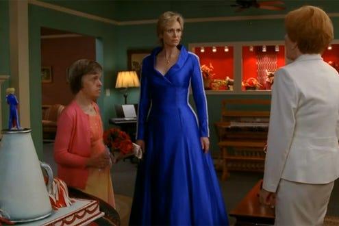 "Glee - Season 2 - ""Furt"" - Guest star Robin Trocki as Jean  Sylvester, Jane Lynch and guest star Carol Burnett as Doris Sylvester"