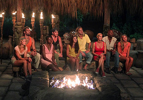 Survivor: Redemption Island - Andrea Boehlke, Grant Mattos, Francesca Hogi, Rob Mariano, Natalie Tenerelli, Matt Elrod, Kristina Kell, Phillip Sheppard, and Ashley Underwood