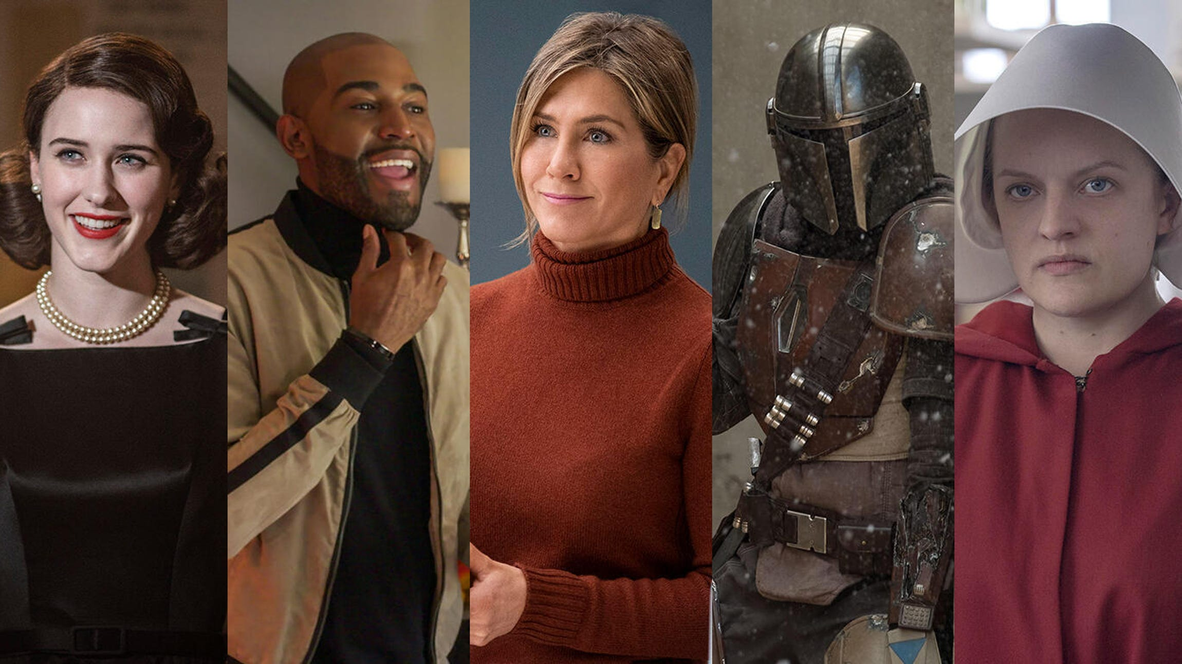 The Marvelous Mrs. Maisel, Queer Eye, The Morning Show, The Mandalorian, The Handmaid's Tale