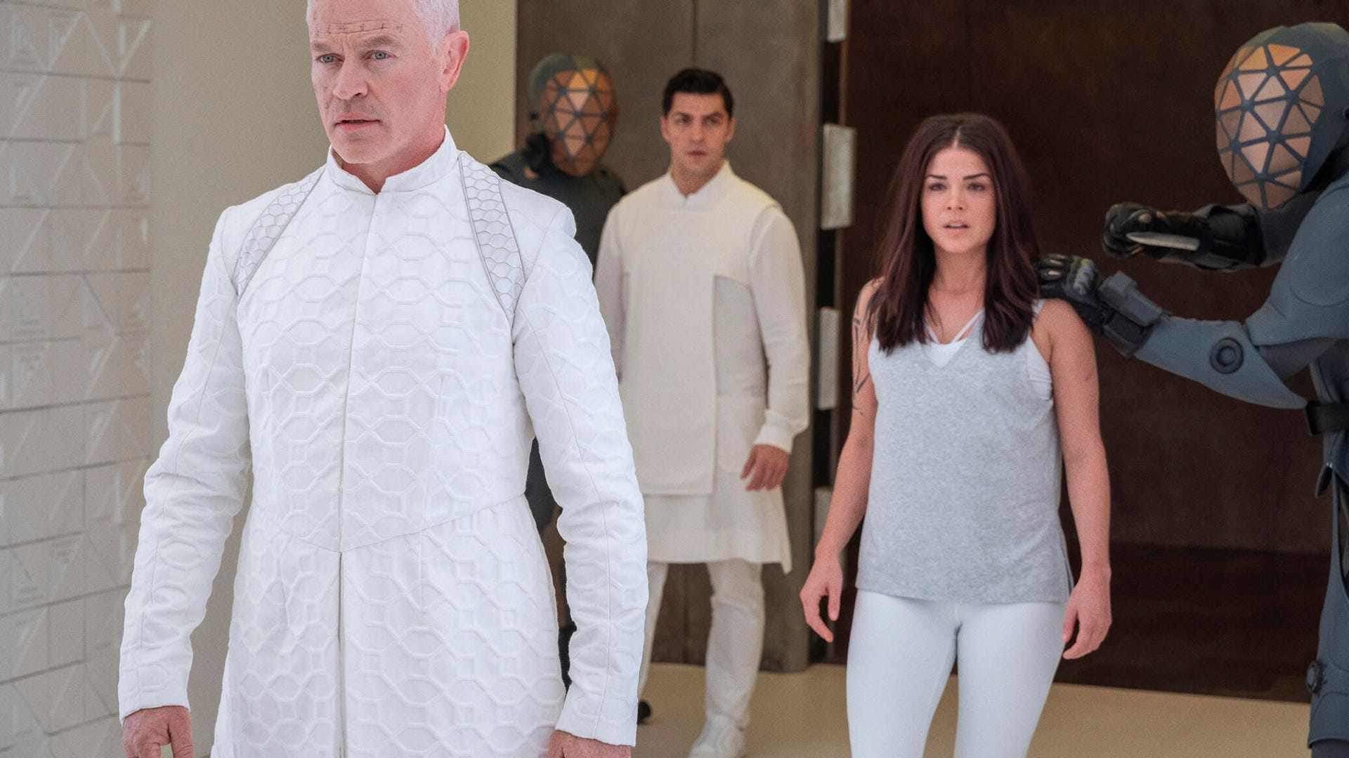 Neal McDonough and Marie Avgeropoulos, The 100
