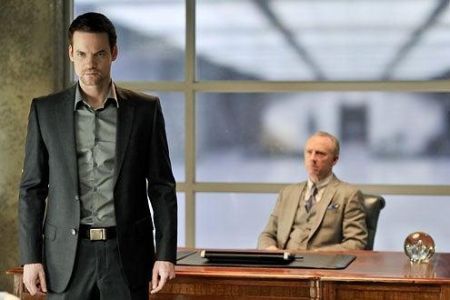 "Nikita - Season 1 - ""Betrayals"" - Shane West as Michael and Xander Berkeley as Percy"