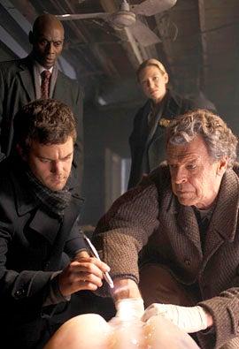 "Fringe - Season 2 - ""The Man From the Other Side"" - Joshua Jackson, Lance Reddick, Anna Torv and John Noble"