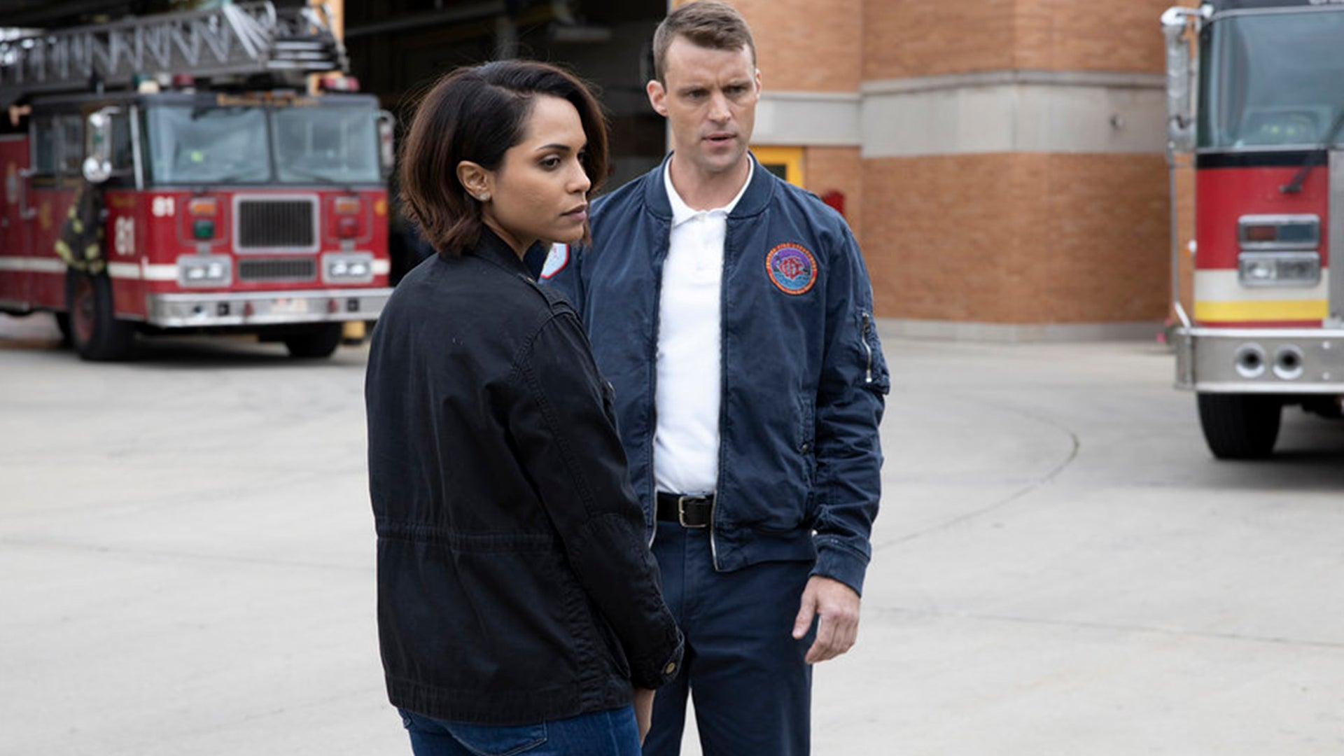 Monica Raymund and Jesse Spencer, Chicago Fire