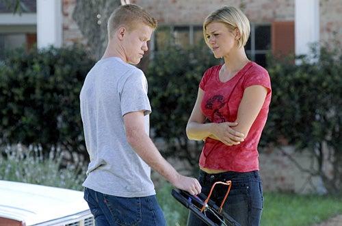 "Friday Night Lights - Season 2 -  ""Confession"" - Jesse Plemons as ""Landry Clarke"", Adrianne Palicki as ""Tyra Collette"""