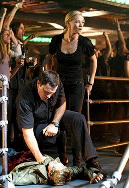 """Chuck - Season 2, """"Chuck vs. The Third Dimension"""" - Adam Baldwin as Casey, Yvonne Strahovski as Sarah"""