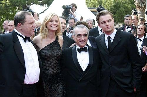 "Harvey Weinstein, Cameron Diaz, Martin Scorsese and Leonardo DiCaprio - Cannes 2002 - ""Gangs of New York"" Premiere"