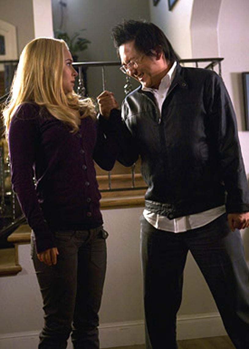 """Heroes - Season 3 - """"The Eclipse"""" Part 2 - Hayden Panettiere as Claire Bennet and Masi Oka as Hiro Nakamura"""