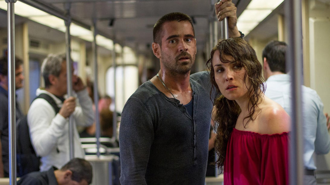 Colin Farrell and Noomi Rapace, Dead Man Down