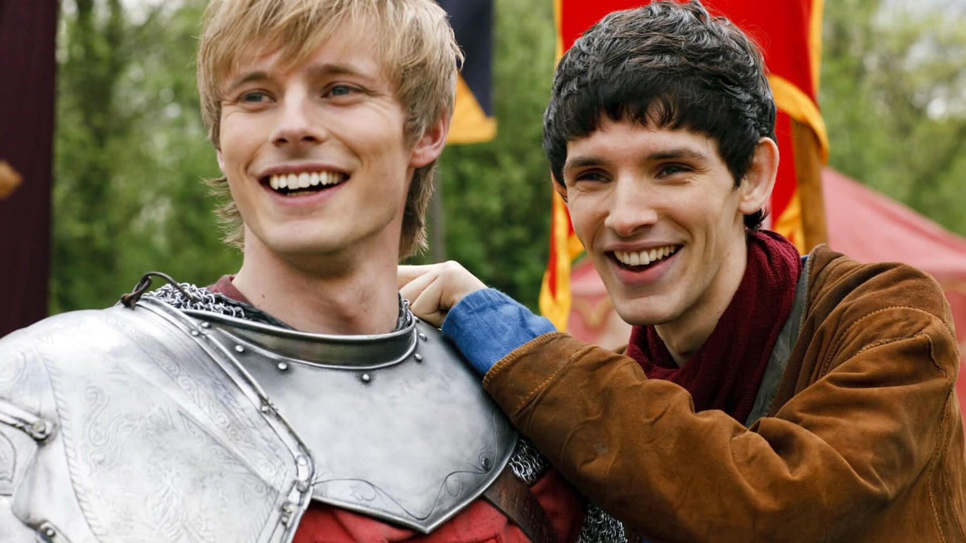 Bradley James and Colin Morgan, Merlin