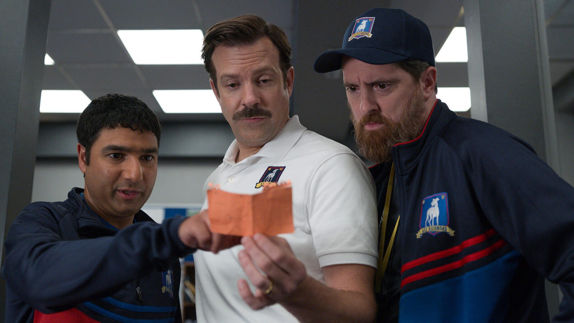 Nick Mohammed, Jason Sudeikis, and Brendan Hunt, Ted Lasso