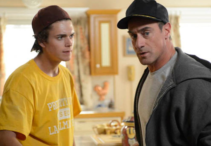 """Surviving Jack - Season 1 - """"Gonna Make You Sweat"""" - Connor Buckley as Frankie, Christopher Meloni as Jack"""