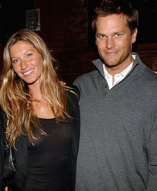 Gisele Bundchen and Tom Brady - attend the Ermenegildo Zegna store opening, March 11, 2008