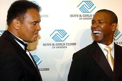 Muhammad Ali and Denzel Washington - Boys and Girls Club of America Honor Denzel Washington at Fundraising Dinner, June 9, 2004
