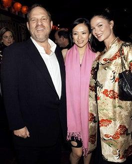 "Harvey Weinstein, Ziyi Zhang and Georgina Chaplin - ""Memoirs of a Geisha"" New York City Premiere - 2005"